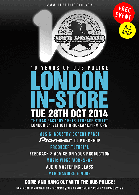 Dub-Police-10-London-In-Store-Online