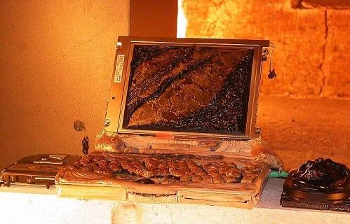 laptop on fire